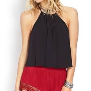 Never worn Forever 21 whimsical cutout halter top